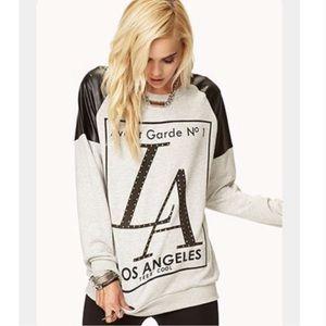 Forever 21 Avant Garde LA Gray Sweatshirt Sz Small